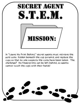 Secret Agent STEM STEAM Mission: Leave No Prints Behind