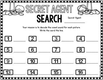 Secret Agent: Short Vowels