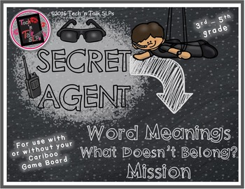 Secret Agent - WORD MEANINGS - What Doesn't Belong Mission