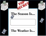 Secret Agent Weather Chart! Super Sleuth! Mystery Bulletin Board! Detective!