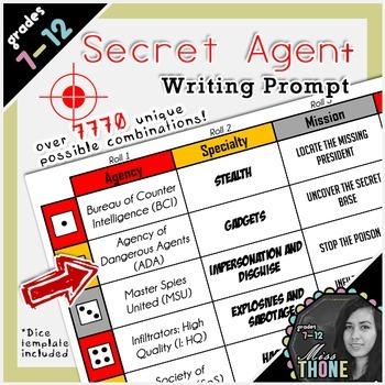 Secret Agent Roll-A Writing Prompt