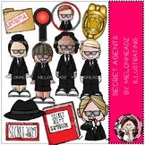 Secret Agent clip art - COMBO PACK - Melonheadz Clipart