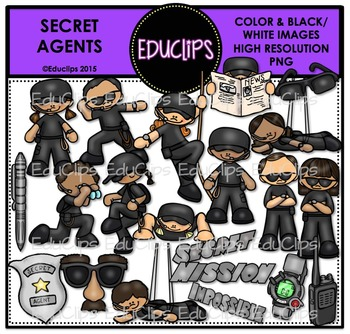 Secret Agents Clip Art Bundle {Educlips Clipart}