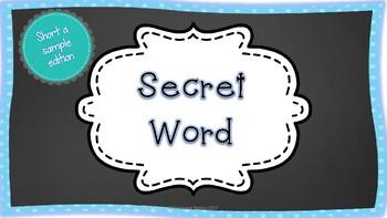Secret CVC Word- Sample