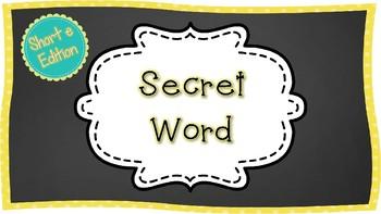 Secret CVC Word- Short a