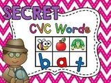 Secret CVC Words (Short Vowels A E I O U and Alphabet Lett