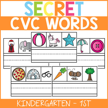 Secret CVC Words Literacy Center