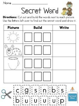 Secret CVC Words Packet