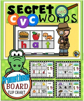Secret CVC Words- Promethean Board Flip Chart