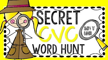 Secret CVC word hunt- Short U