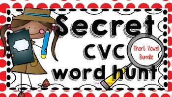Secret CVC word hunt- The BUNDLE