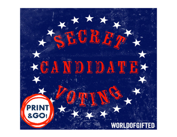 Secret Identity Election/Mystery Candidate Lesson: Election, Voting