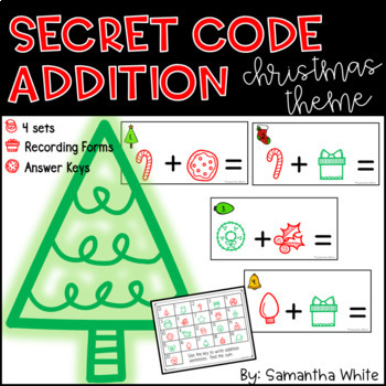 Secret Code Addition {Christmas Theme}
