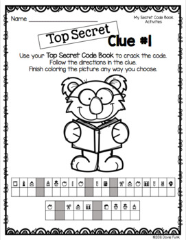 Secret Code Book and Activities - Great for Fast Finishers