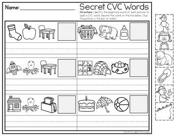 Secret Code CVC Words