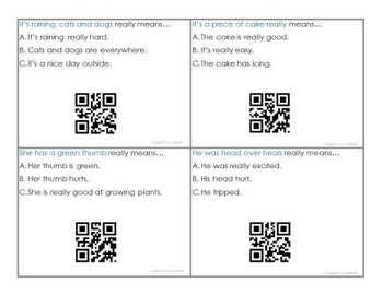 Secret Code Idioms- With QR Code Answers