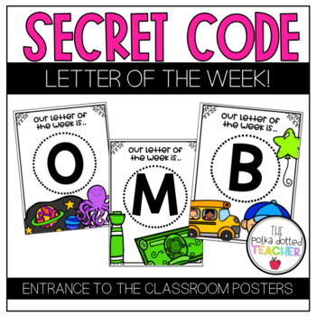 Secret Code: Letter of the Week