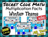 Secret Code Math - Multiplication Winter Theme Boom Cards w AUDIO