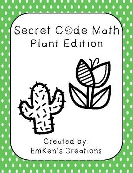 Secret Code Math - Plant Edition