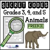 Secret Code Math Worksheets Animals 3rd 4th 5th Grade