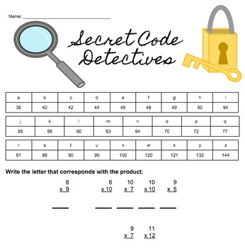 Secret Code: Multiplication Detectives