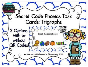 Secret Code Phonics Task Cards: Beginning Trigraphs