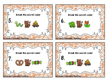Secret Code Phonics Task Cards: CVC Short E Set