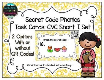 Secret Code Phonics Task Cards: CVC Short I Set