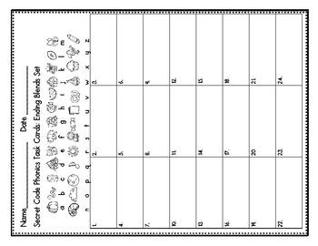 Secret Code Phonics Task Cards: Ending Blends Set 1