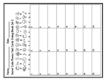 Secret Code Phonics Task Cards: Ending Blends Set 2