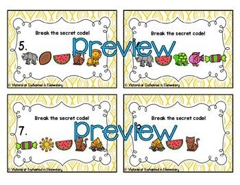 Secret Code Phonics Task Cards: Long Vowel Team Bundle