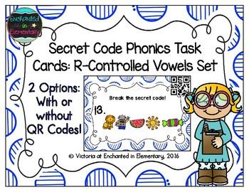 Secret Code Phonics Task Cards: R-Controlled Vowels Set