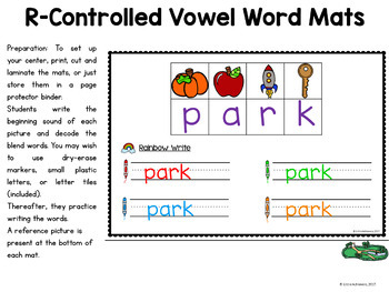 R-Controlled Vowel Activities | Secret Words Bossy R Activities