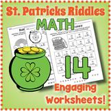 Secret Code Saint Patrick Math Riddle Worksheets