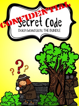 Secret Code Sight Word Practice - Dolch Word Lists THE BUNDLE