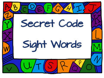Secret Code Sight Words