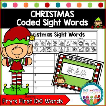 Secret Code Sight Words | Christmas Activities