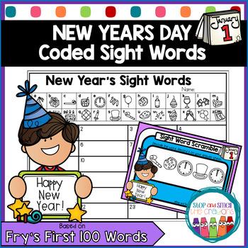 Secret Code Sight Words   New Years Activities