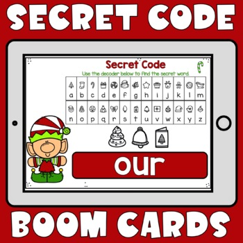 Christmas Secret Code Sight Words Boom Cards