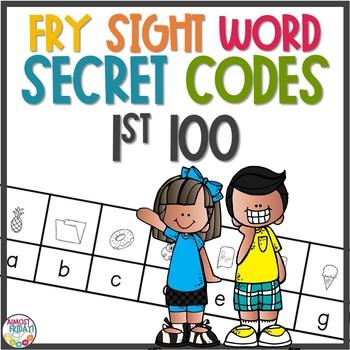 Secret Code Sight Words | Fry 1st 100