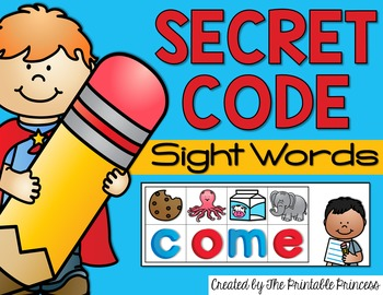 Secret Code Sight Words: Sight Word Practice for Dolch Words