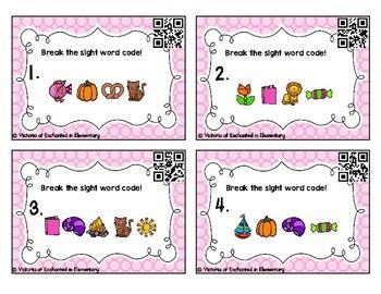 Secret Code Sight Words Task Cards: Primer Set