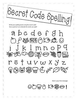 Secret Code Spelling!