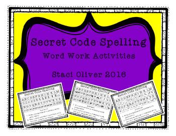 Secret Code Spelling Word Work Activities