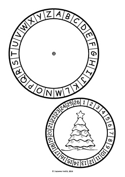 Christmas Secret Code Wheel - Alphabet & Numbers (ordered)