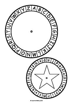 Christmas Secret Code Wheel - Upper and Lower Case Alphabet (jumbled)