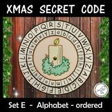 Christmas Secret Code Wheel - Upper and Lower Case Alphabet (ordered)
