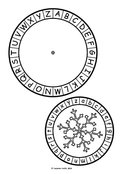 Christmas Secret Code Wheel - Upper and Lower Case Alphabet (ordered)
