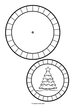 Secret Code Wheel - Blank Template -  Christmas Theme