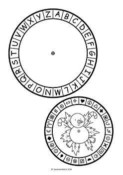 picture about Cipher Wheel Printable identify Xmas Mystery Code Wheel - Alphabet and Symbols